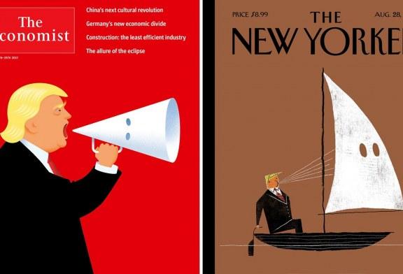 Fytyra e urrejtjes? Ja si revistat më të mëdha në botë e portretizojnë Trump-in