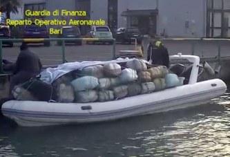Kapet tjetër gomone më drogë në brigjet italiane, vlera e mallit 15 milion euro