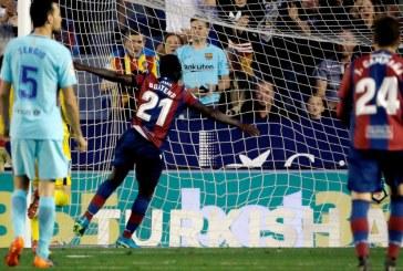 E pamendueshme: Levante i shkakton humbjen e parë Barcelonës në kampionat