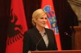 Presidentja kroate në Tiranë: shqiptarët dhanë jetën për ne (në luftë me serbët)