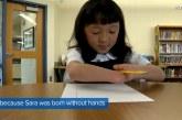 Gati e pabesueshme: vajza pa duar fiton garën për shkrimin më të bukur (video)