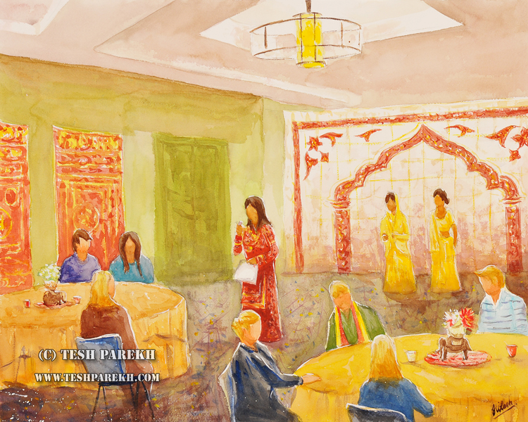 Live Event Painting – Ayesha Mian at the Hyatt House in Charlotte NC