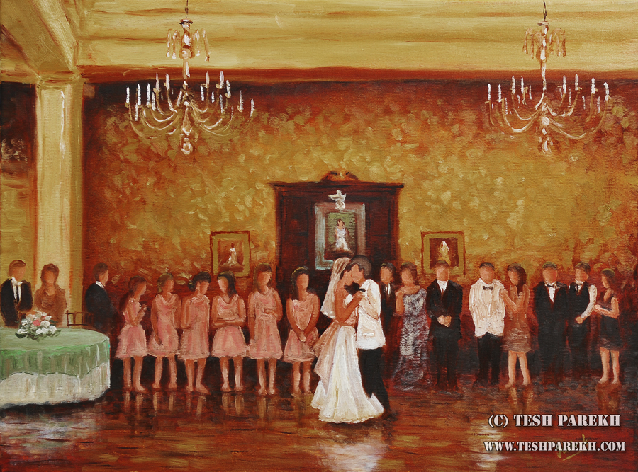 Raleigh Wedding Painter – Carolina Country Club Wedding Painting { Jordan + Brent }