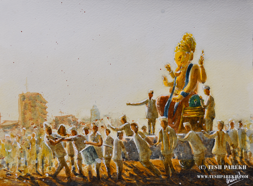 Mumbai! Watercolor paintings by Raleigh Fine Artist