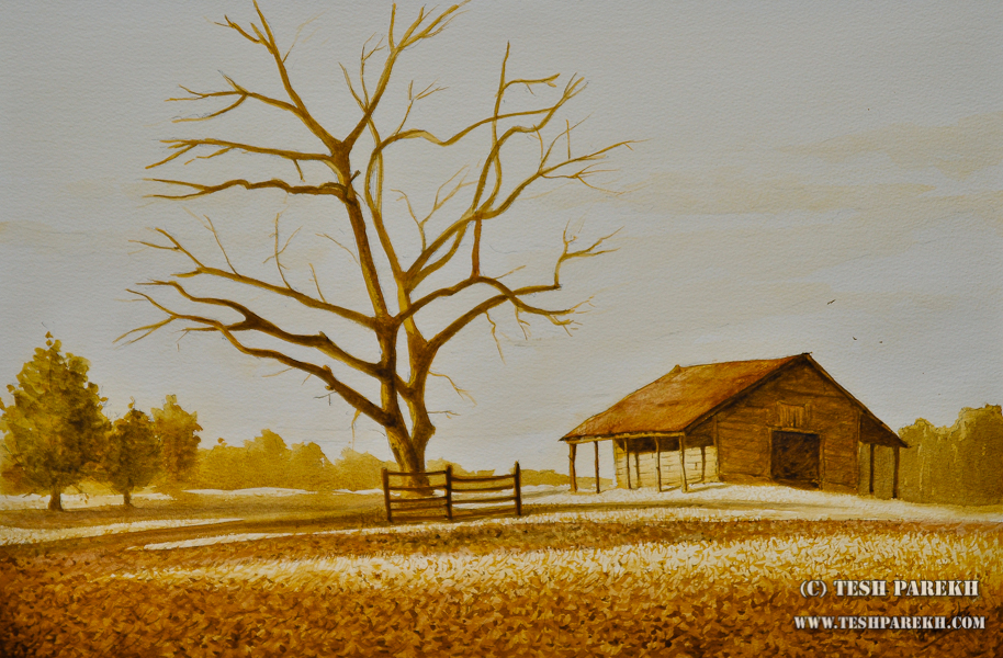 Joyner Park, Wake Forest – A watercolor painting by Raleigh NC Fine Artist