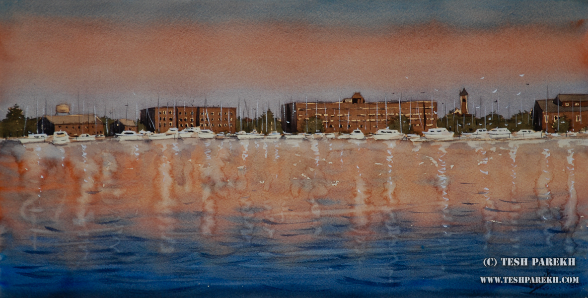 Raleigh Fine Artist – New Bern Morning watercolor painting