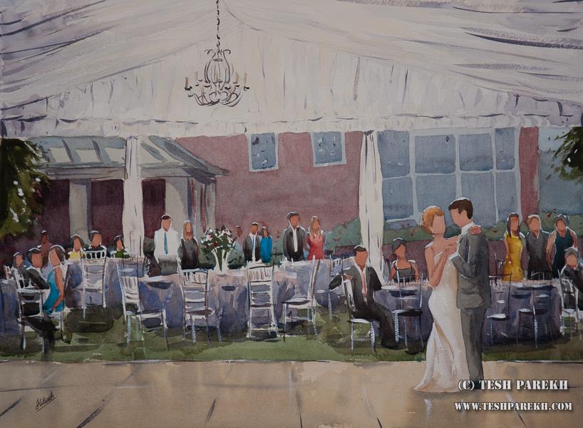 South Boston VA Live Wedding Painting { Lauren + Brad }