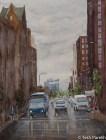 Salisbury Street. Watercolor painting on paper.
