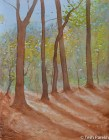Autumn Morning. Watercolor painting on paper.