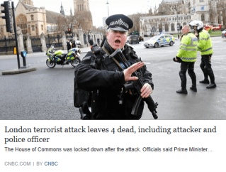 London terrorist attack leaves 4 dead, including attacker and police officer - CNBC
