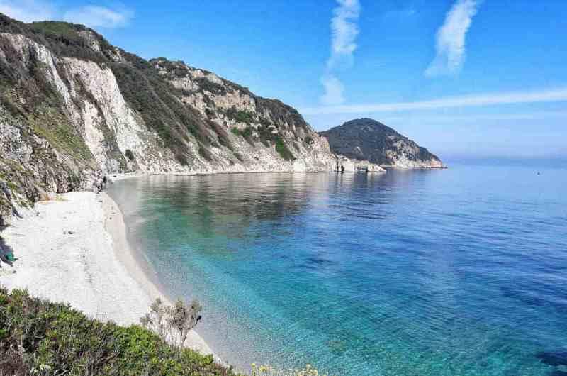 La spiaggia di Sansone all'isola d'Elba