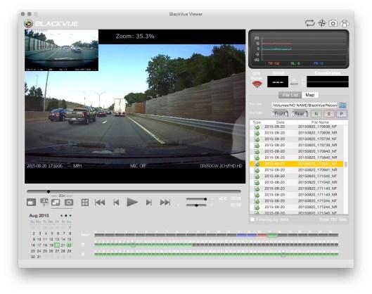 Reviewing dashcam footage