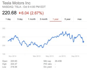 Wild Tesla Stock
