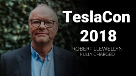 Robert Llewellyn of Fully Charged at TeslaCon 2018