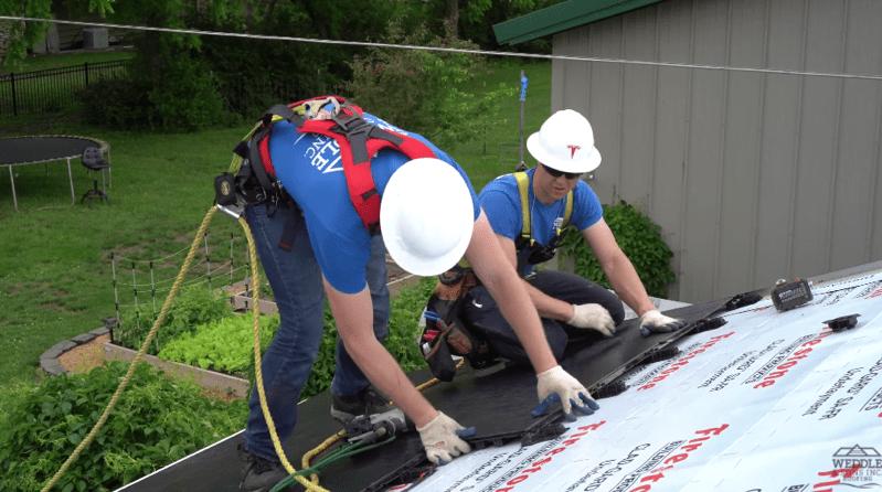 Tesla solar roof install