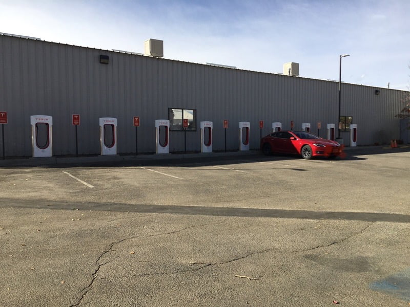 Bishop tesla supercharger