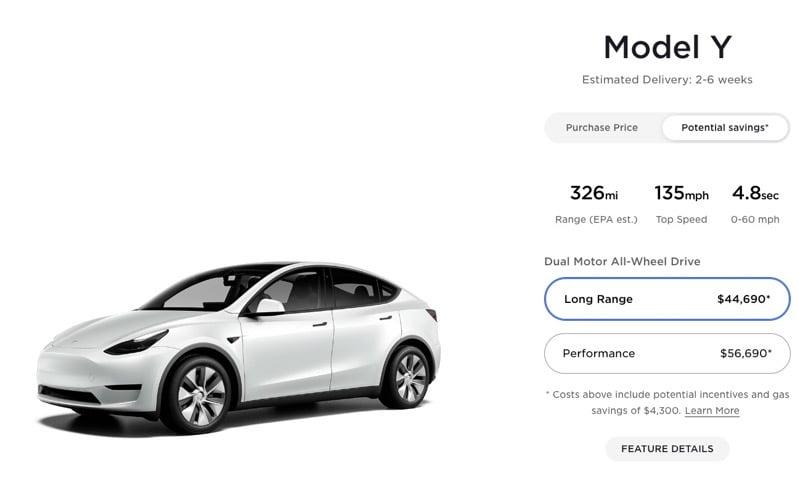 Tesla Model Y Standard Range Axed From Website Long Range Sees 1 000 Price Drop Teslanorth Com