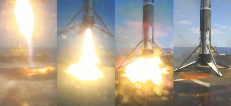 Стильные посадки ракетных клюшек SpaceX после вехи повторного использования в военных целях