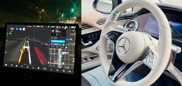 Сравнение Tesla FSD Beta и Mercedes-Benz DrivePilot показывает большую разницу в технологиях