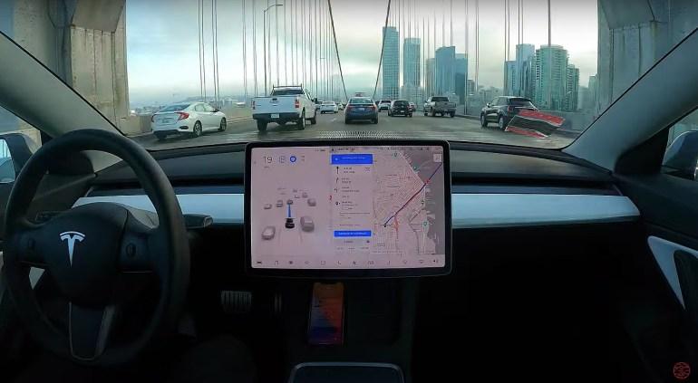 Tesla pure Vision FSD Beta завершила поездку из Лос-Анджелеса в Сан-Франциско без каких-либо увольнений