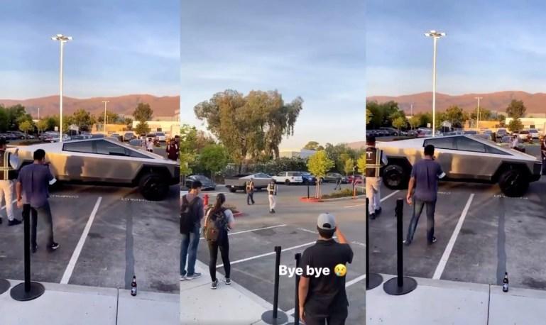 Странные дверные ручки Tesla Cybertruck поразили умы поклонников электромобилей во время недавних наблюдений