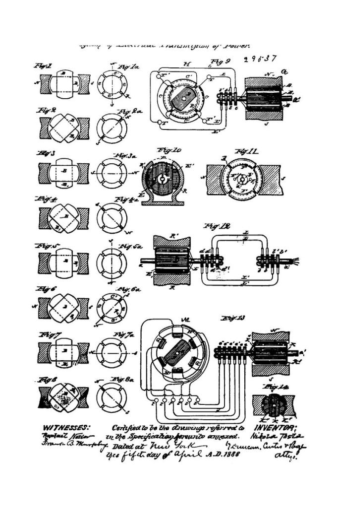 Patente canadiense Nikola Tesla 29537 - Sistema de transmisión eléctrica de potencia - Imagen 1