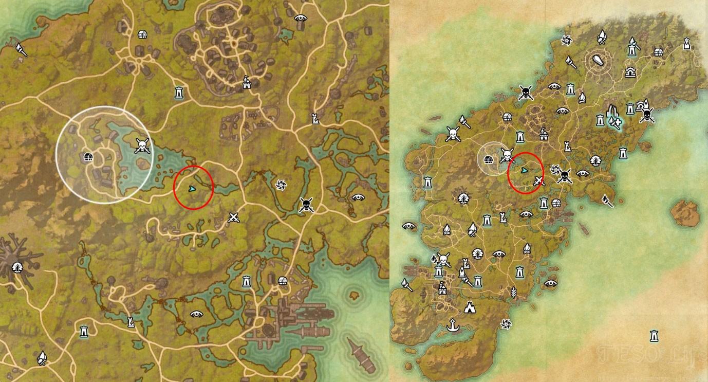 Eso Bangkorai Treasure Maps