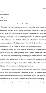How to Format your Paper in MLA