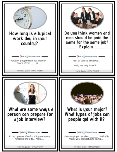 Job Discussion Cards