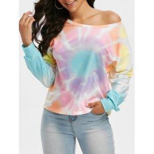Tie Dye One Shoulder Lounge T Shirt