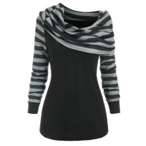 Striped Foldover Jumper Knitwear