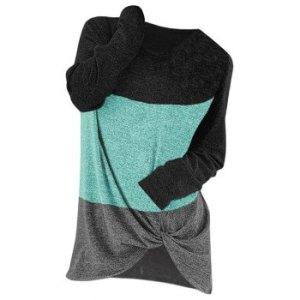 Colorblock Twisted Jumper Knitwear