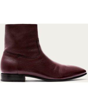 Burgundy Grain Leather Miles