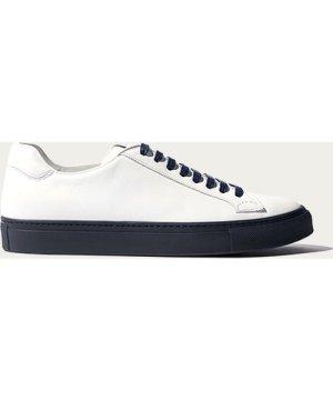 White Calf – Blue Navy Sole Ugo Edit Sneakers