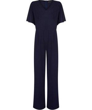 Mela London Curve Fluted Sleeve Jumpsuit