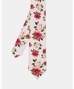 Ted Baker Rosetie Rose Print 7Cm Tie in Pink