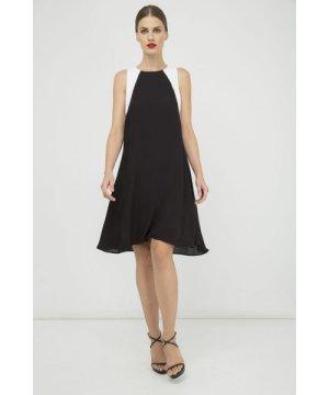 Conquista Sleeveless A Line Black Dress