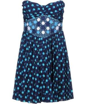 Vanessa Bruno Dark Blue Silk Strapless Dress