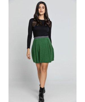 Conquista Green Mini Skirt