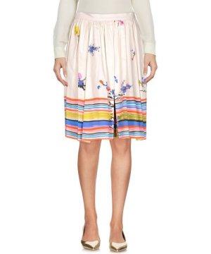Redvalentino Beige Print Cotton Skirt