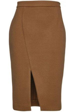 Conquista Camel Mouflon Pencil Skirt