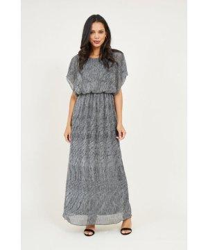 Mela London MELA LONDON Vertical Shimmer Maxi Dress
