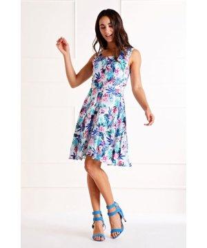 Mela London Multi Button Front Printed Dress