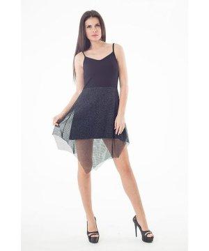 Conquista Sheer Layer Detail Mini Dress
