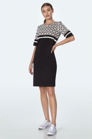 Nife Simple dress with pockets in pepito pattern