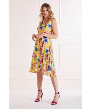 Mela London Bright Floral Cowl Neck Dress