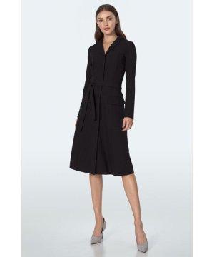 Nife Black long-sleeved dress