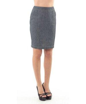 Conquista Stitch Detail Straight Skirt