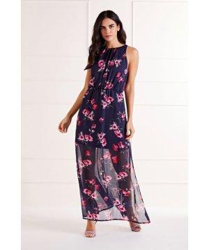 Mela London Floral High Neck Maxi Dress