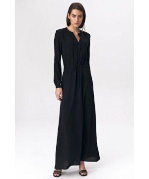 Nife Black maxi dress
